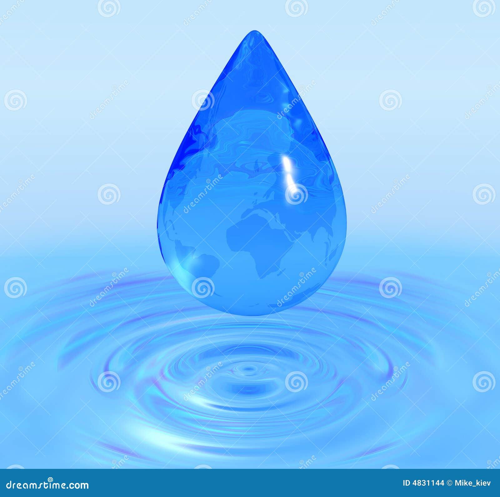 Kugelwassertropfen