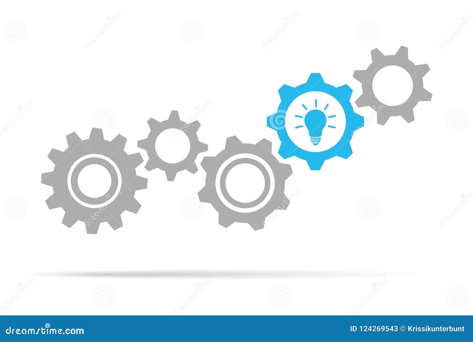 Kugghjul för idé för ljus kula funktionsdugliga