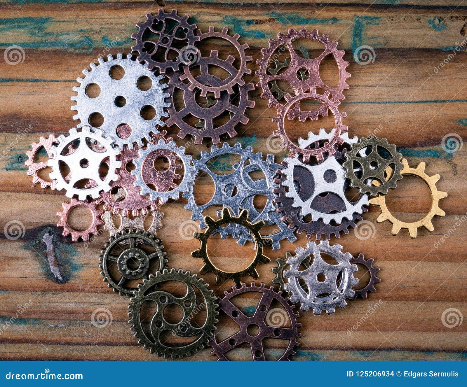 Kugghjul i olika format och färger