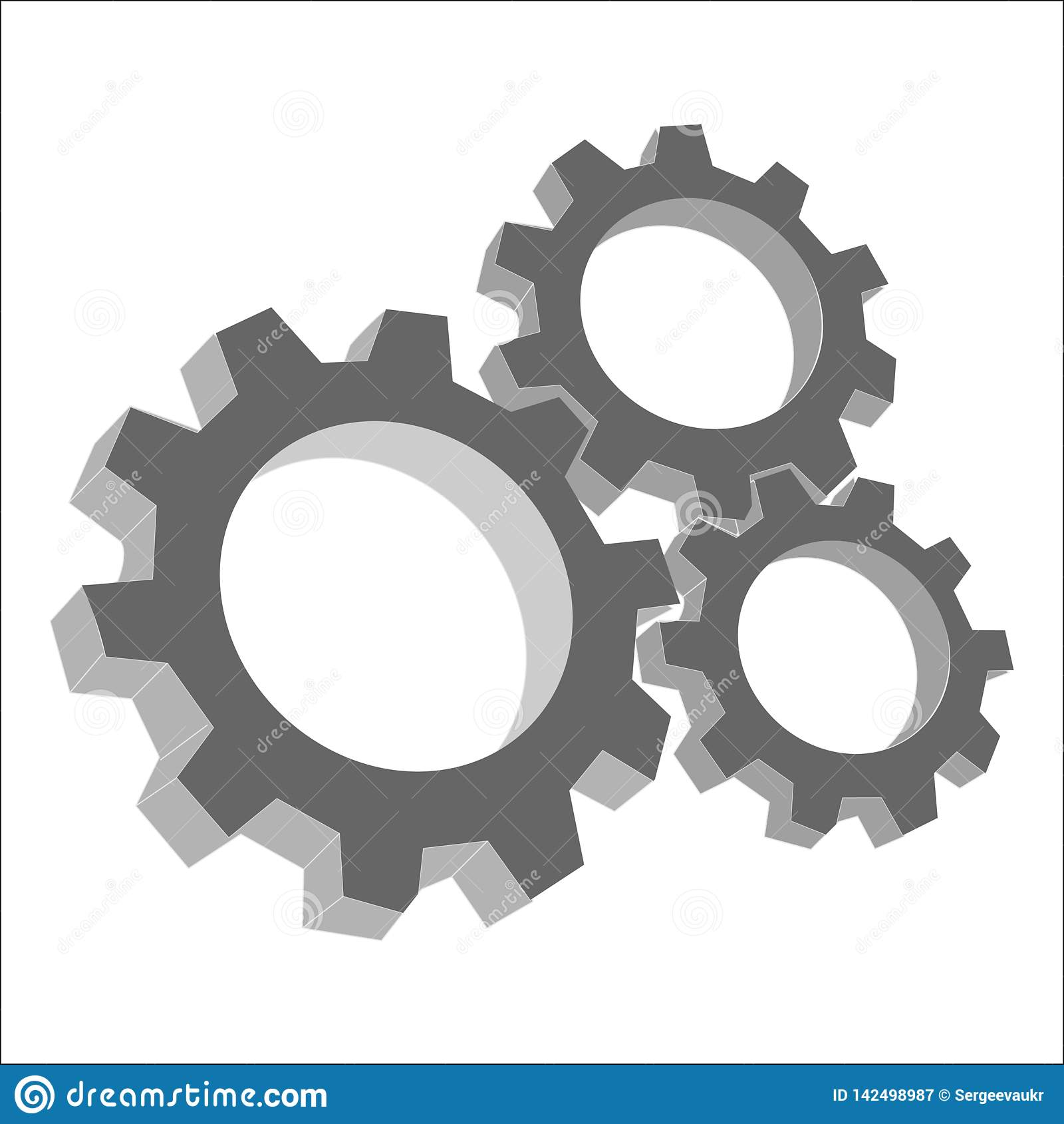 Kugghjul mekanism, exakthet, abstrakt vektor, nheadline