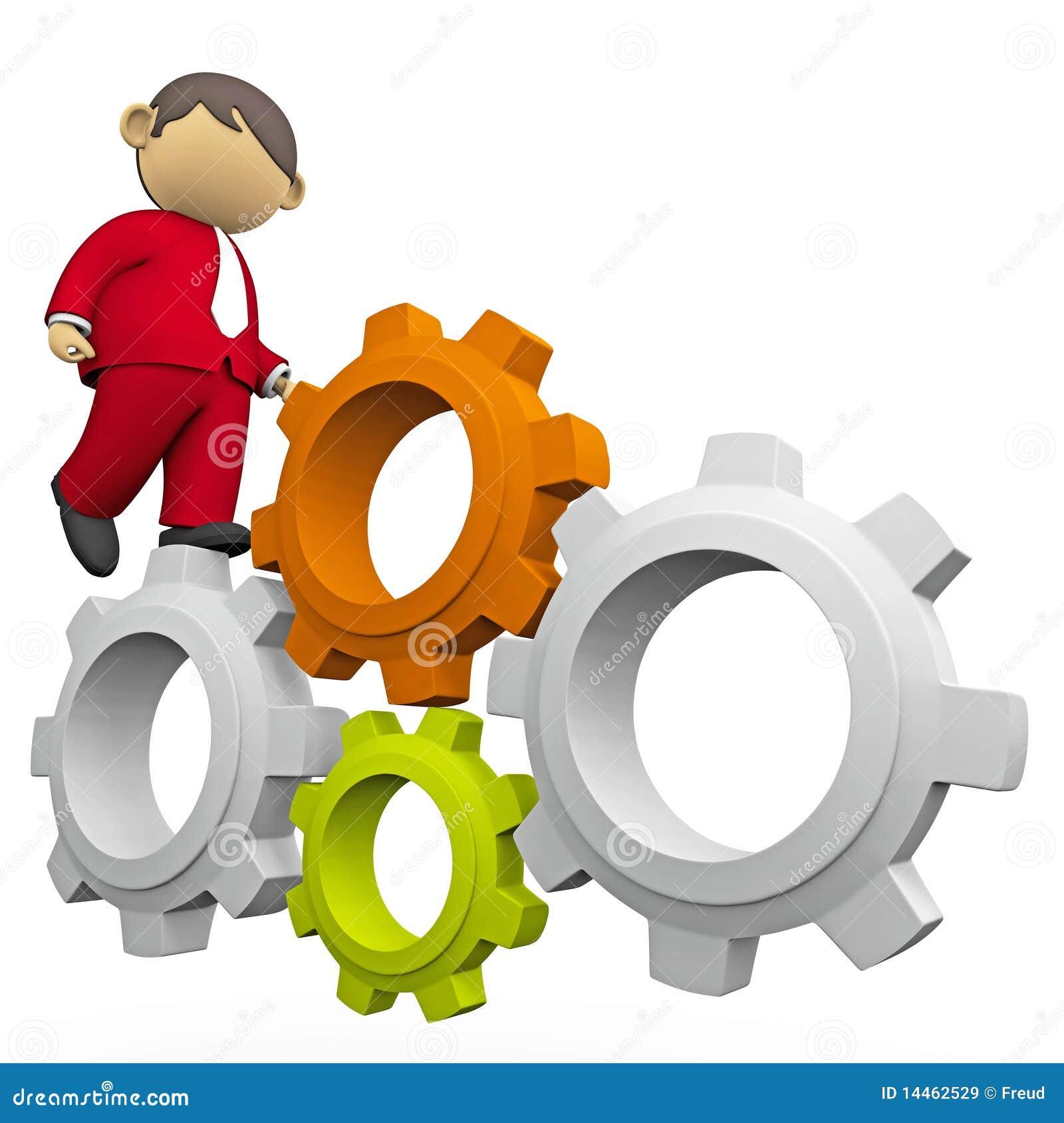 Kugghjul som interlocking att gå