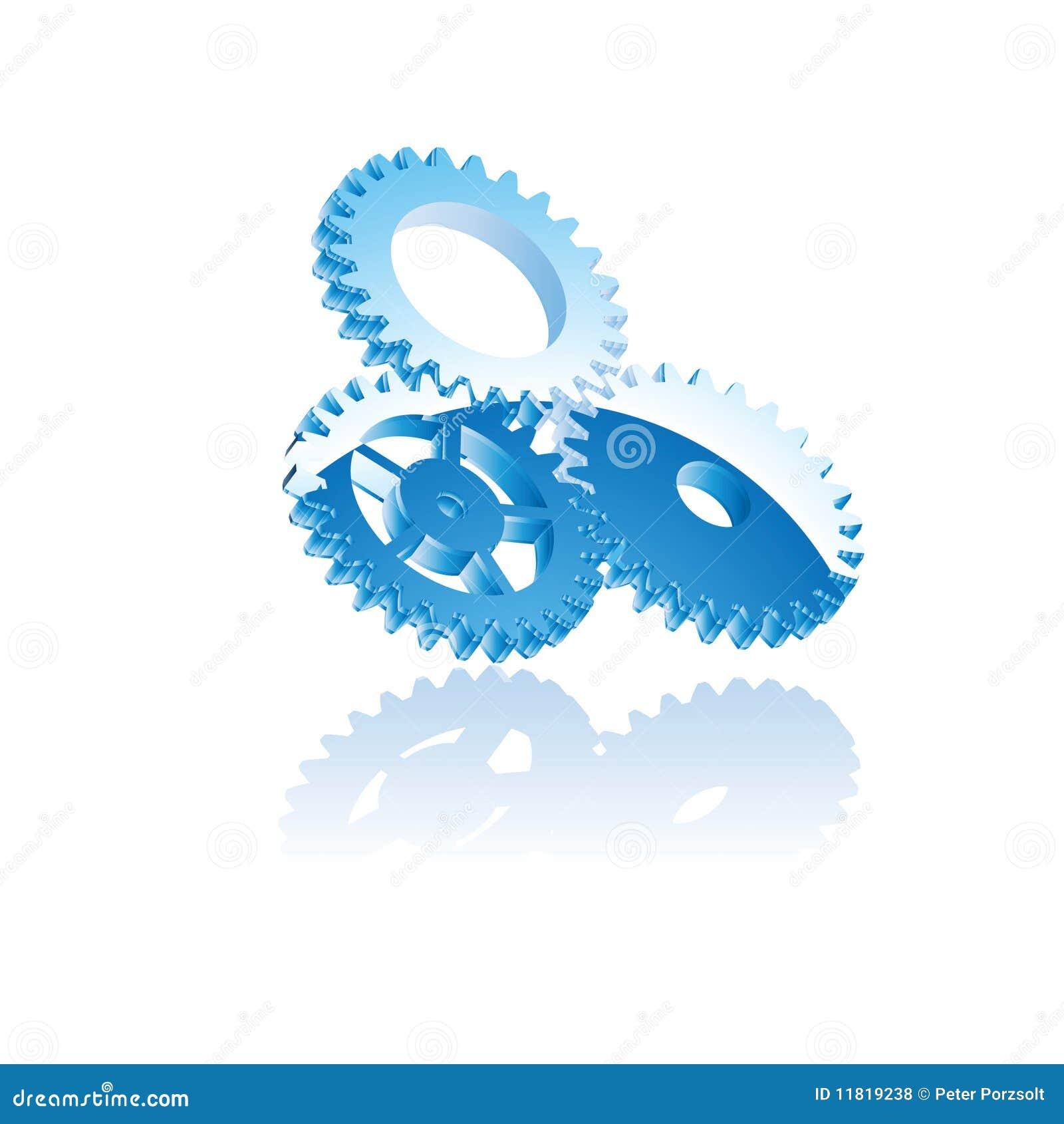 Kugghjulsymbolsvektor