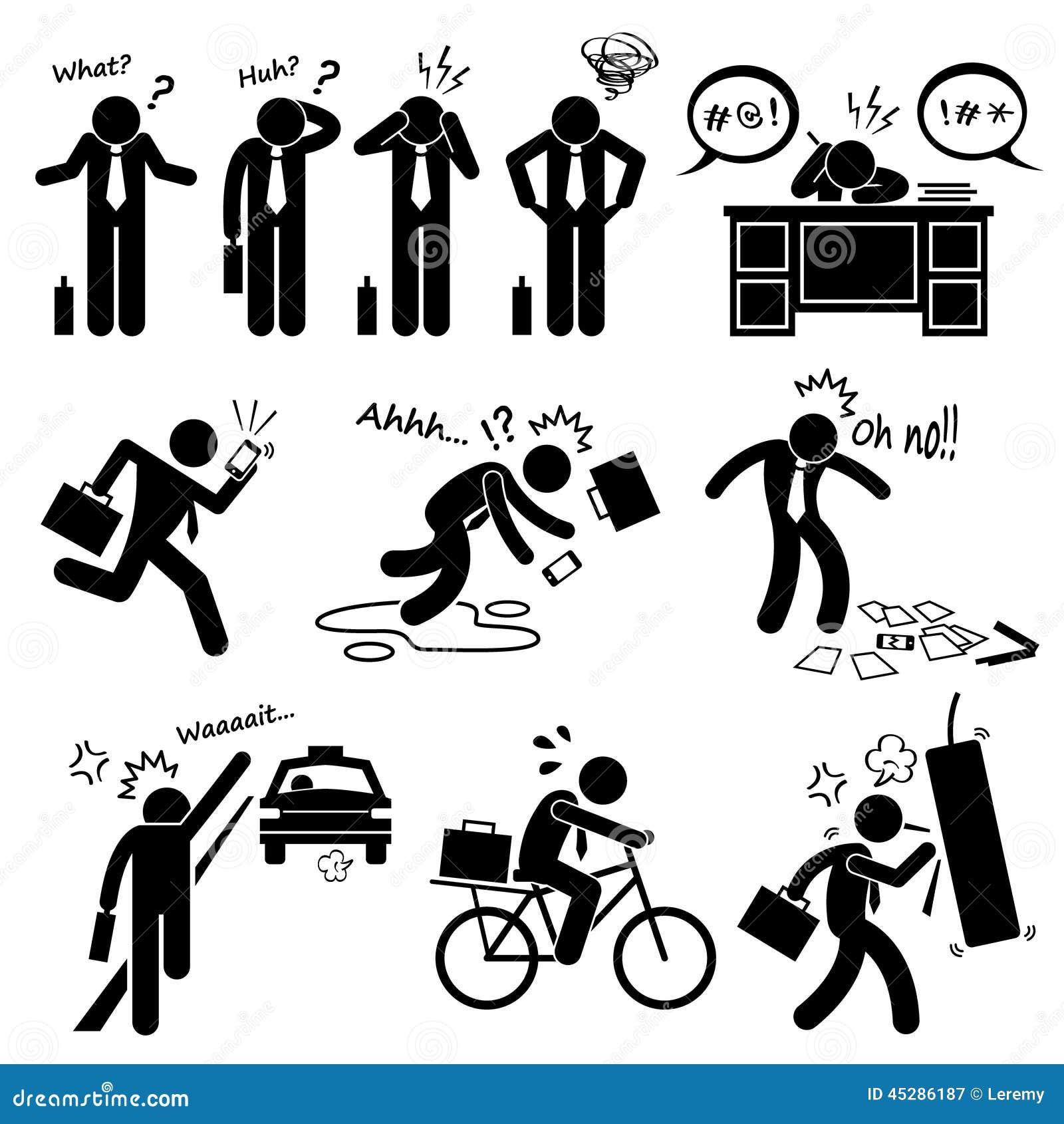 KuggningaffärsmanEmotion Feeling Action Cliparts symboler