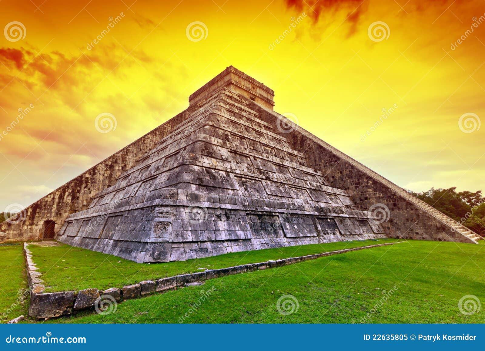 kukulkan pyramid in chichen itza at sunset royalty free farmer wife clipart Cartoon Farmer and Wife