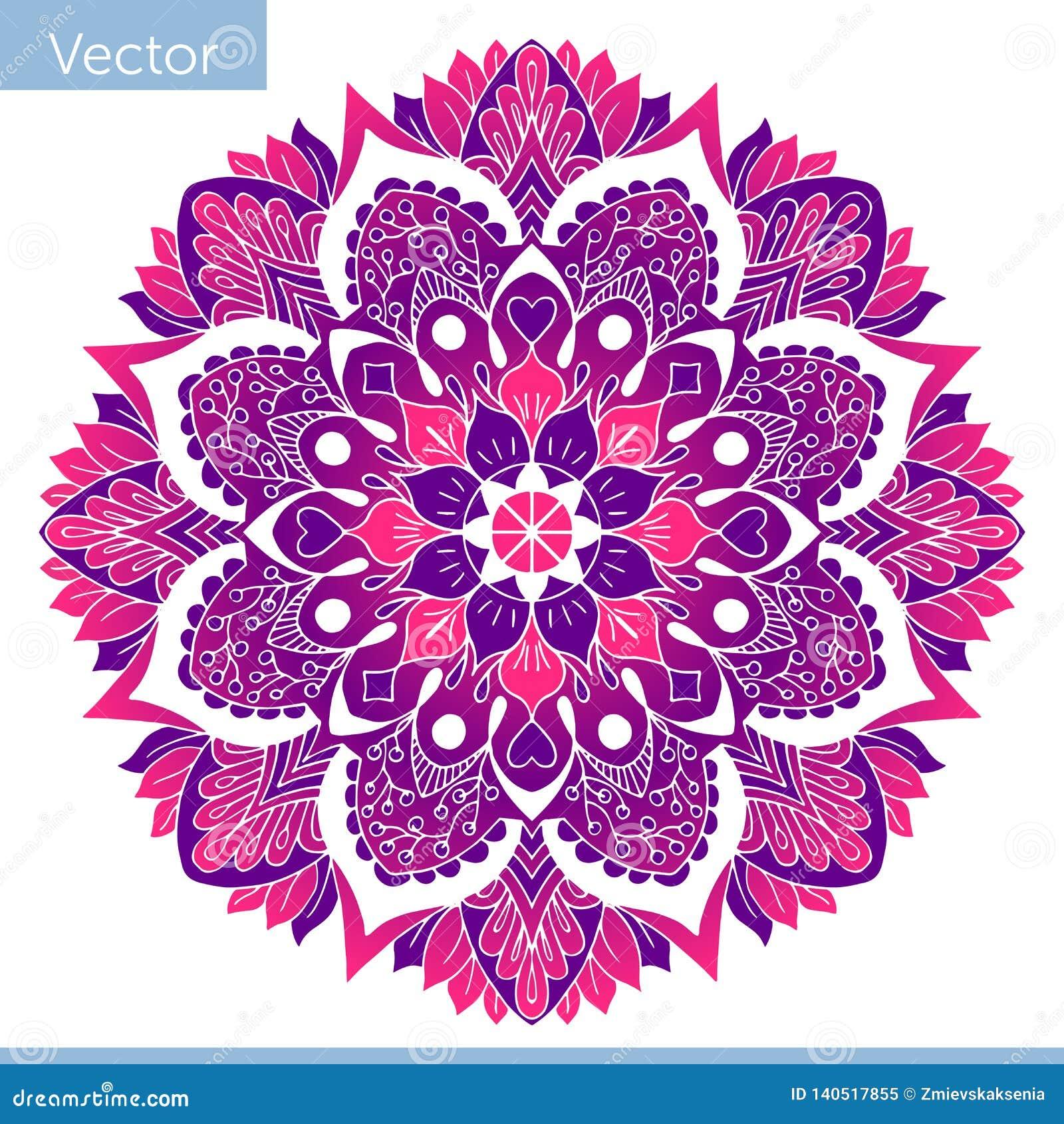 Kulör dekorativ Mandala Österlänningen mönstrar