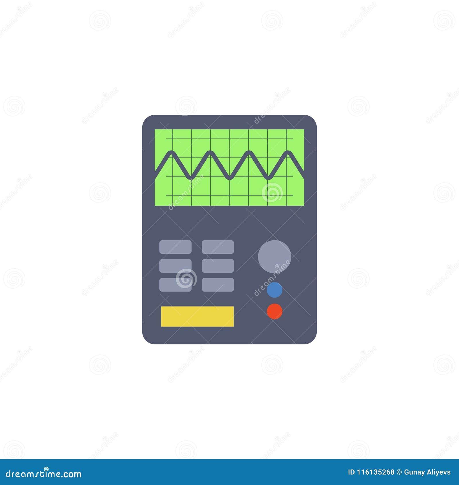Kulör elkraft som mäter instrumentsymbolen Beståndsdel av vetenskap och laboratoriumet för mobila begrepps- och rengöringsdukapps
