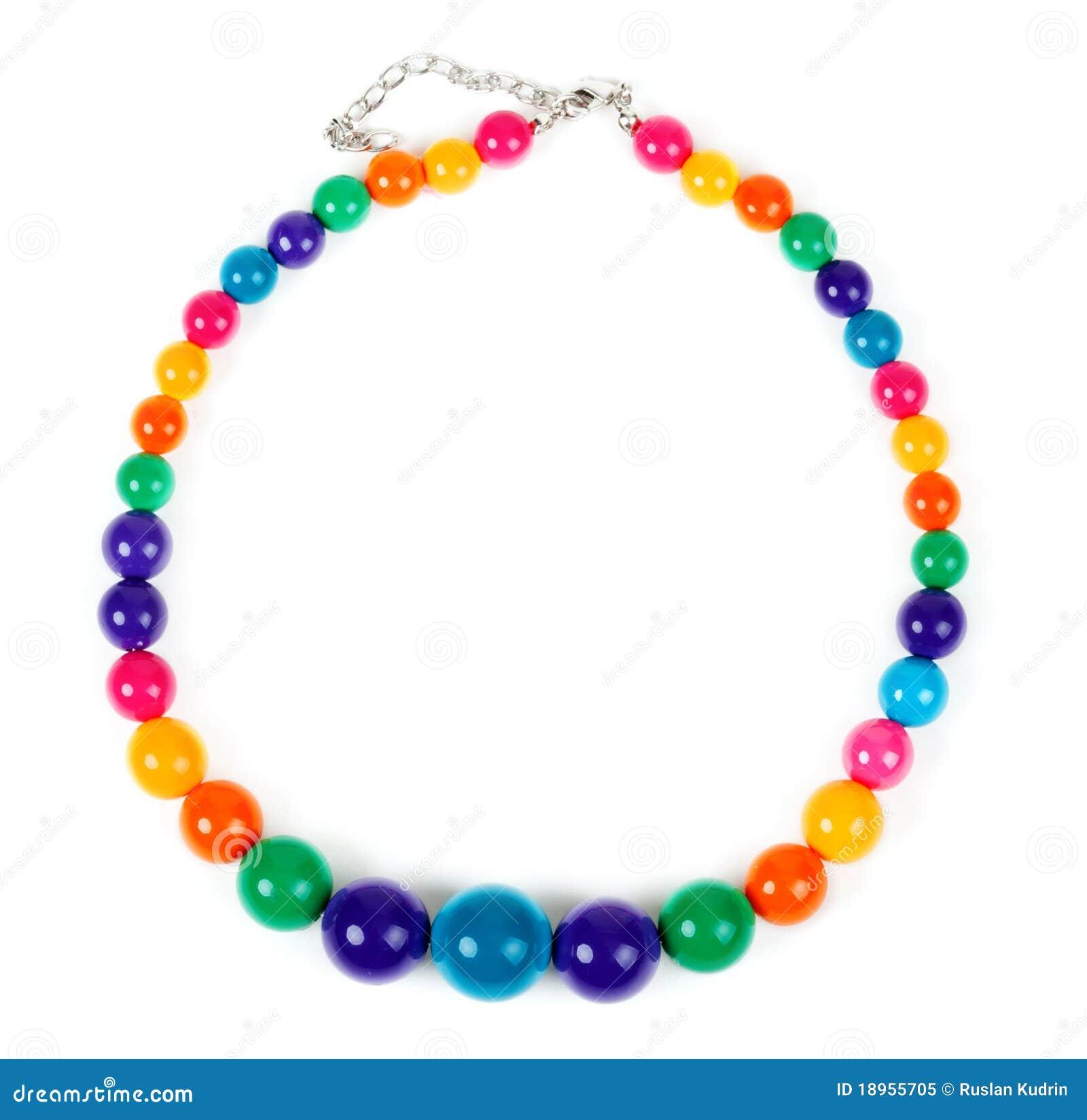 Kulör plast- för pärlor
