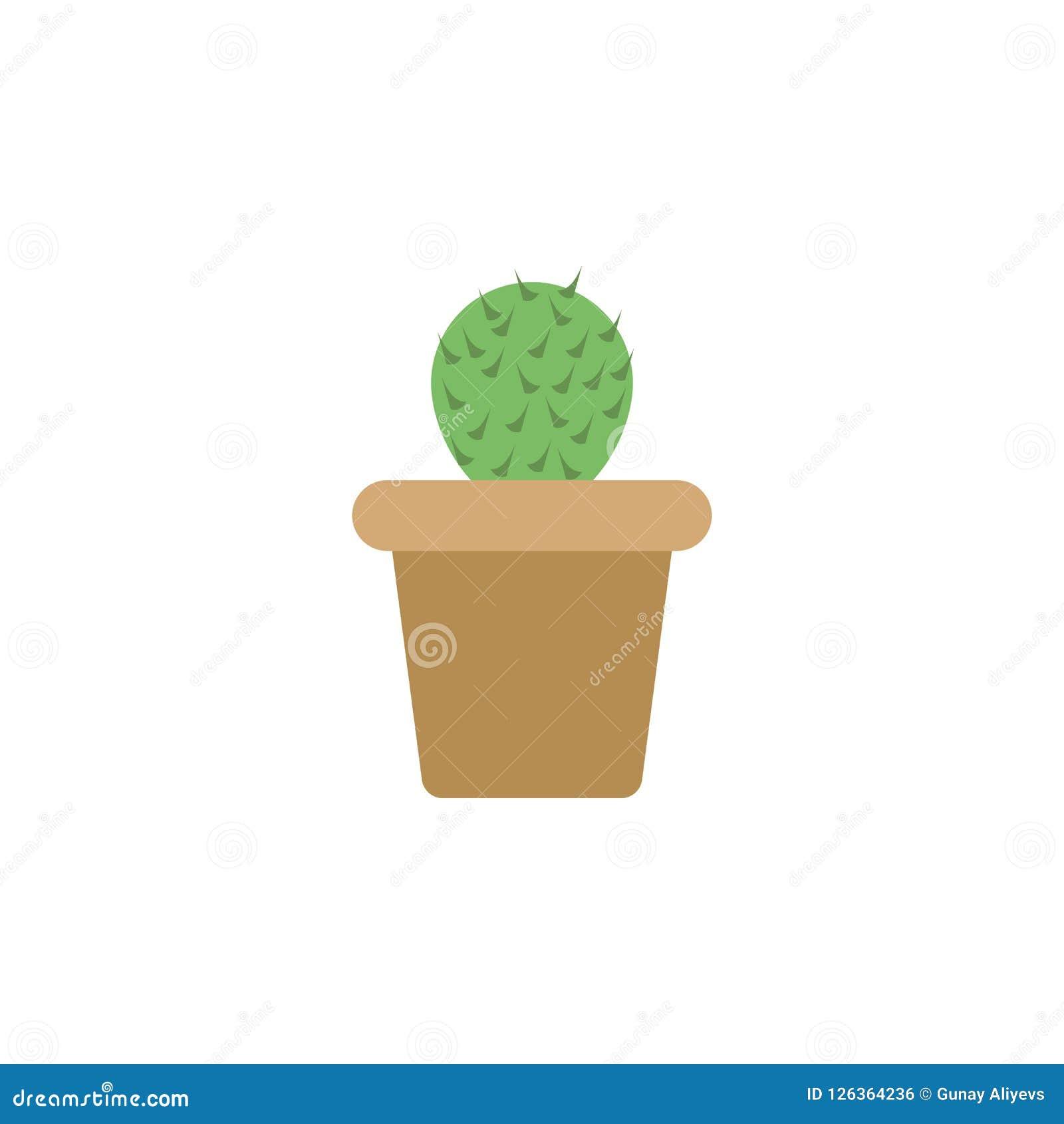 Kulör symbol för kaktus Beståndsdel av den kulöra höstsymbolen för mobila begrepps- och rengöringsdukapps Den kulöra kaktussymbol