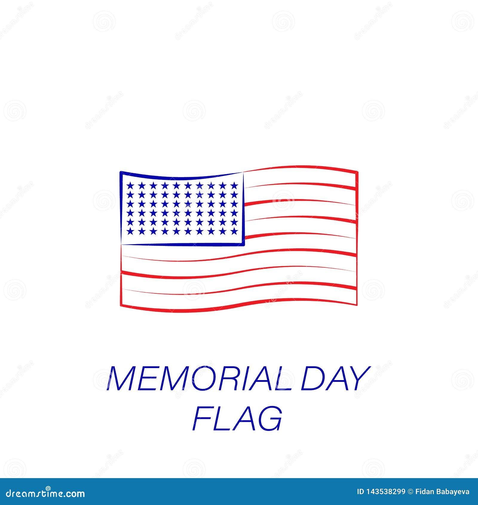 Kulör symbol för minnesdagenflagga Beståndsdel av minnesdagenillustrationsymbolen r