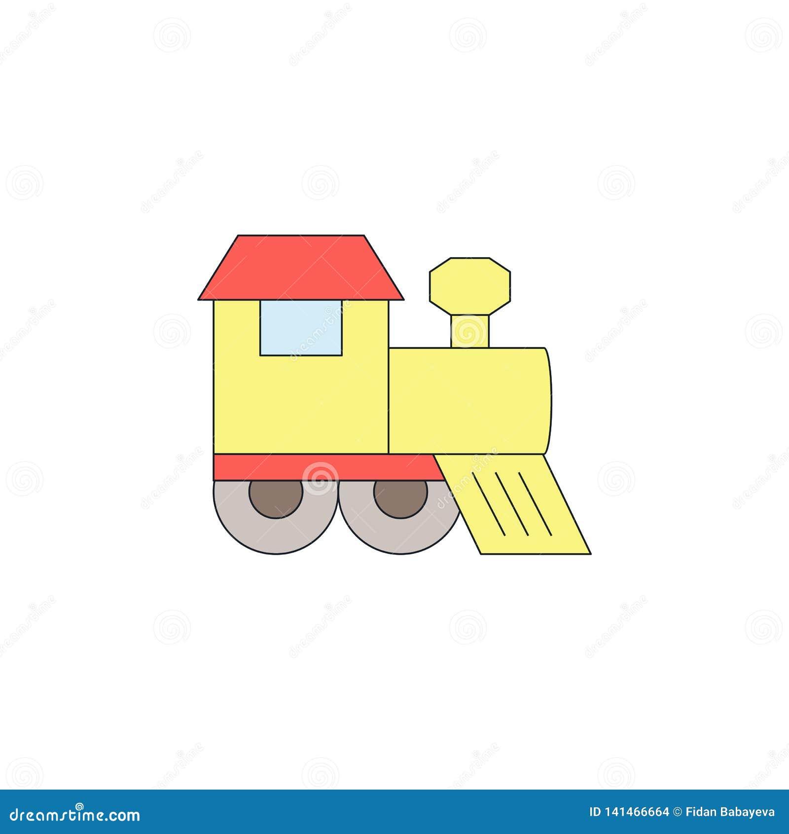 Kulör symbol för tecknad filmleksakdrev Tecknet och symboler kan användas för rengöringsduken, logoen, den mobila appen, UI, UX