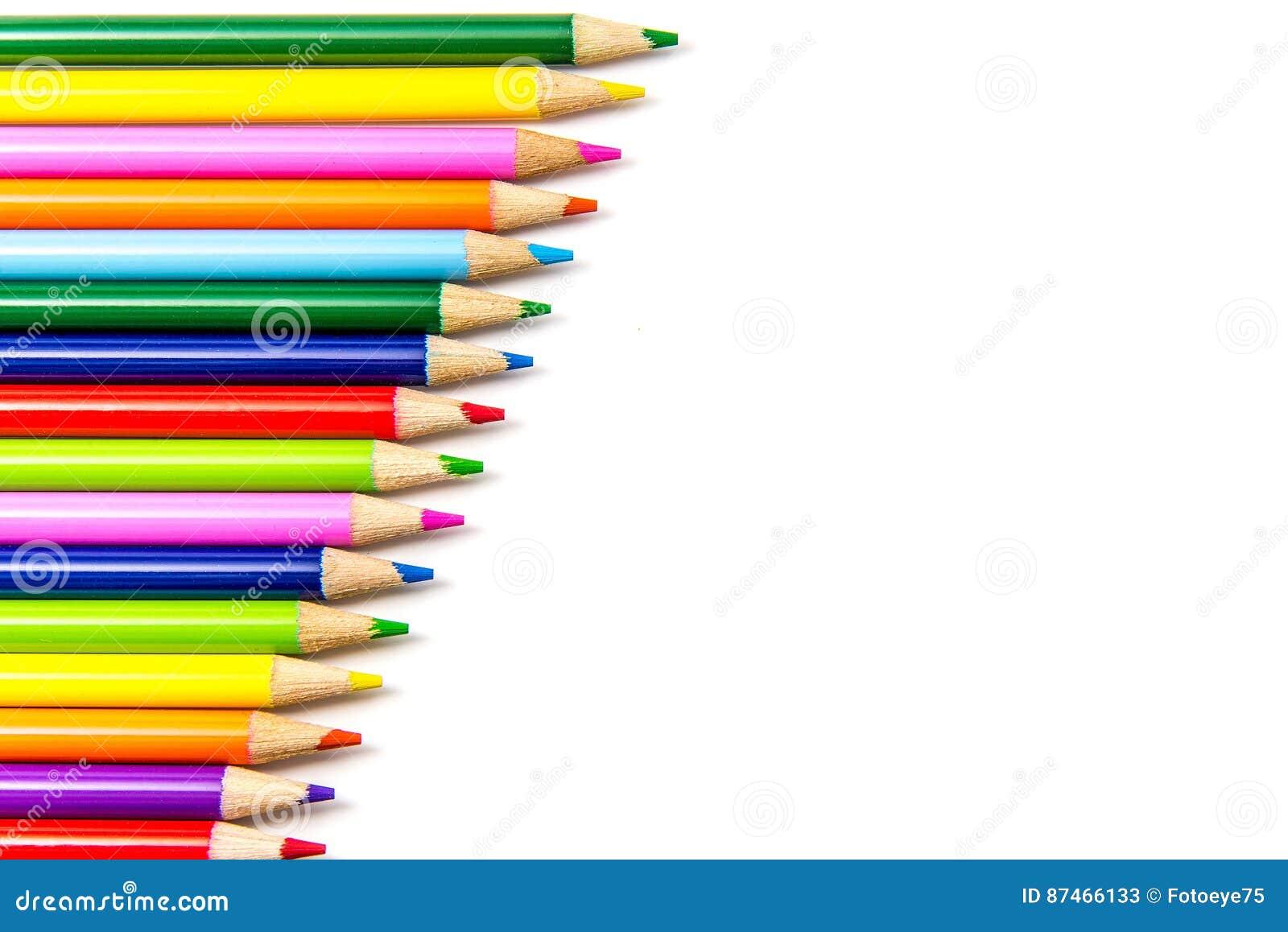 Kulöra blyertspennarader