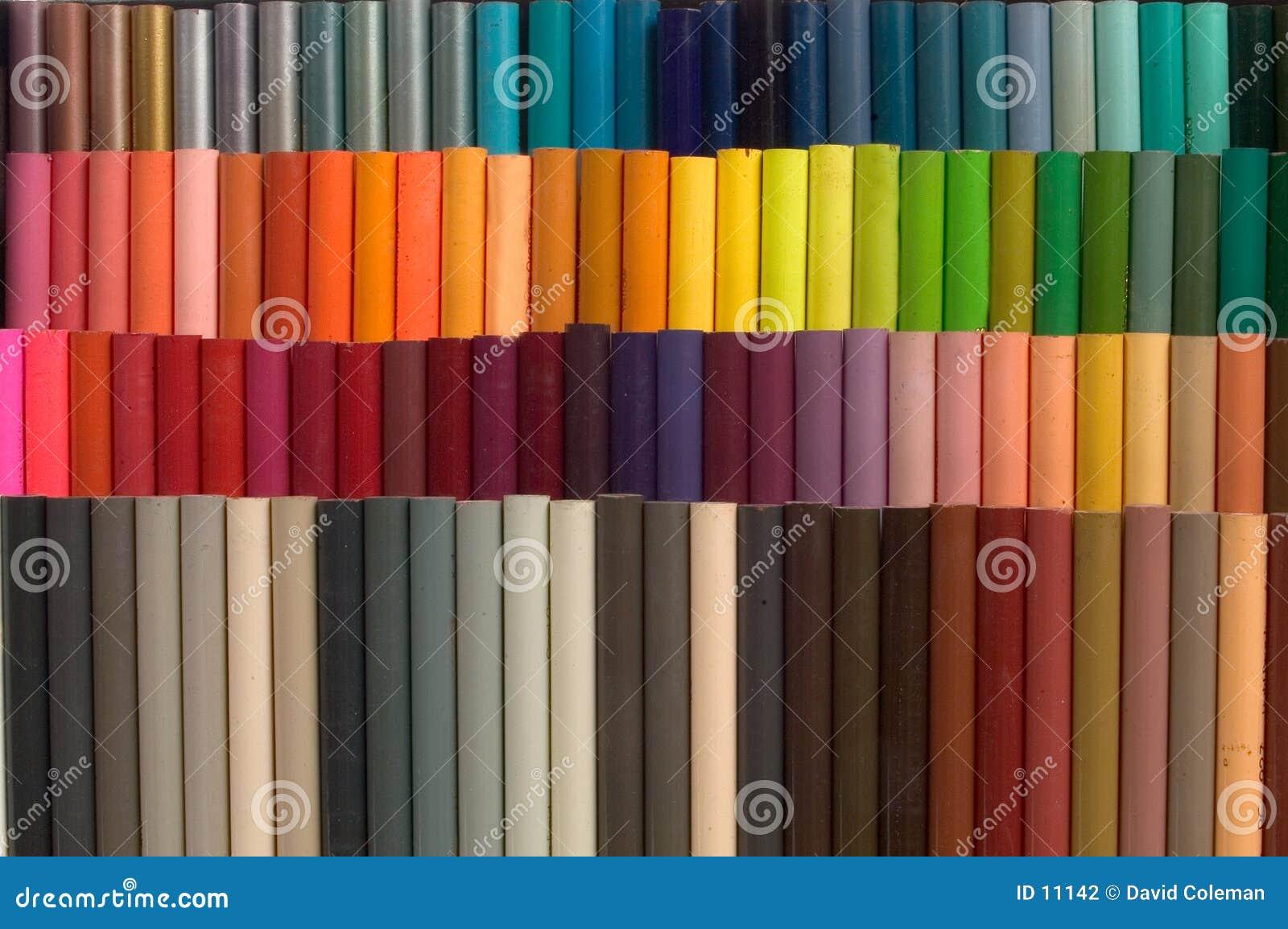 Kulöra blyertspennor