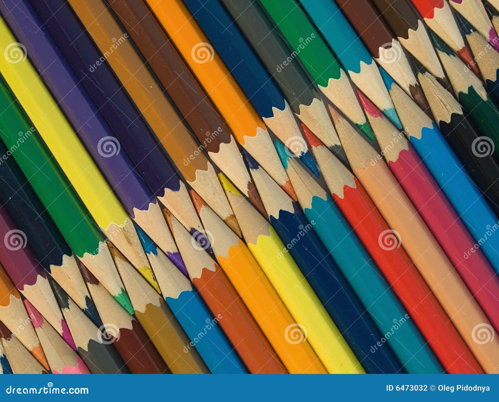 Kulöra blyertspennor för sortiment