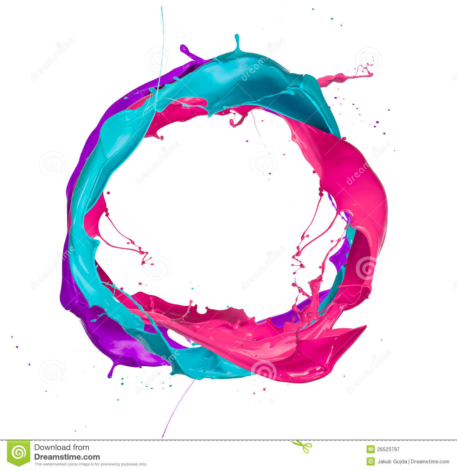 Kulöra färgstänk