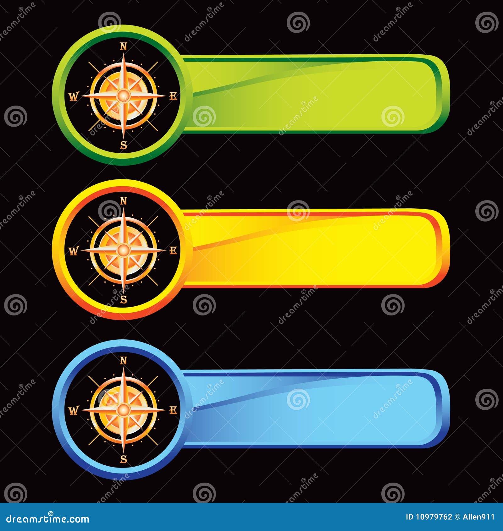 Kulöra kompassflikar