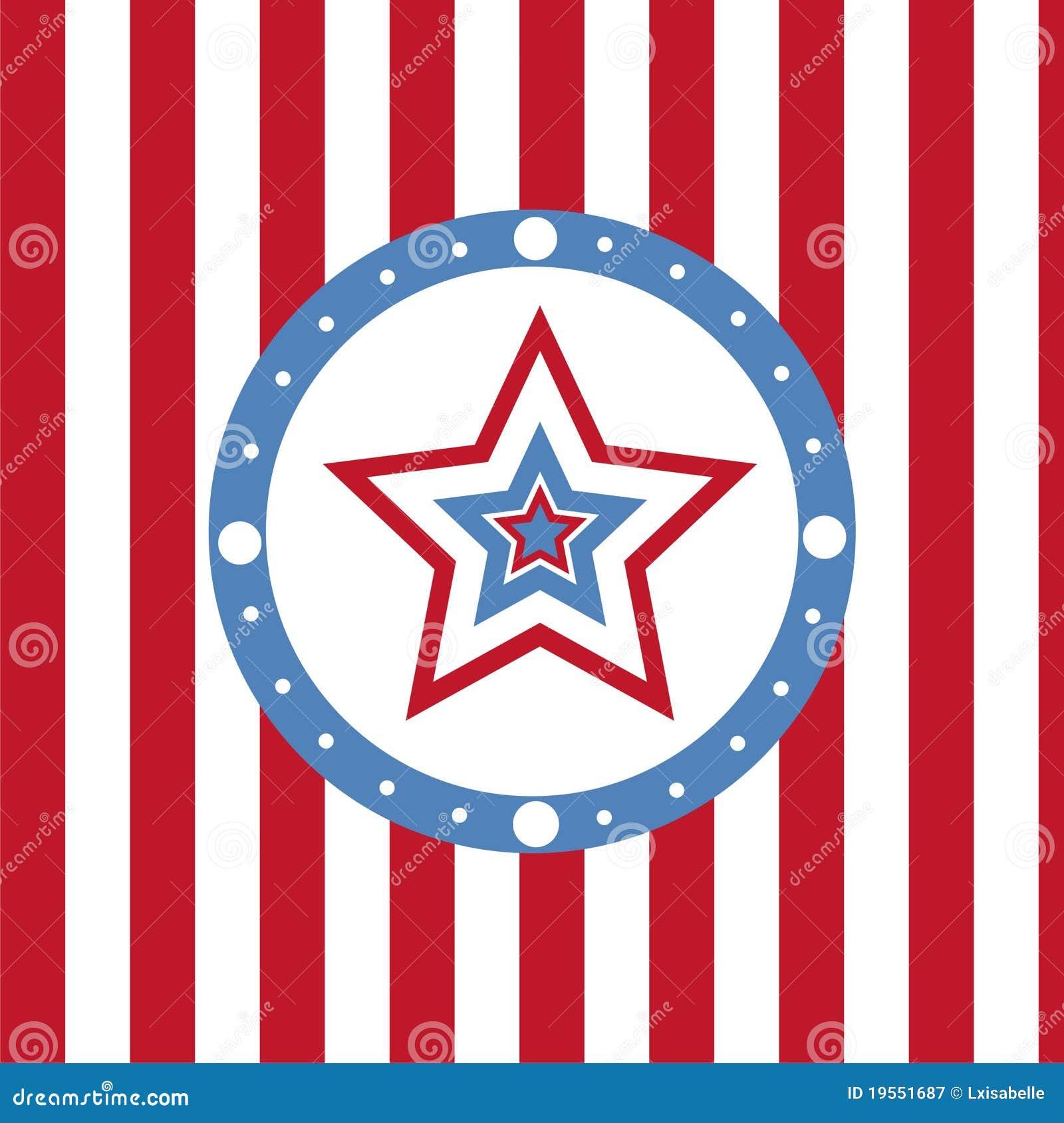 Kulöra stjärnor för amerikansk bakgrund