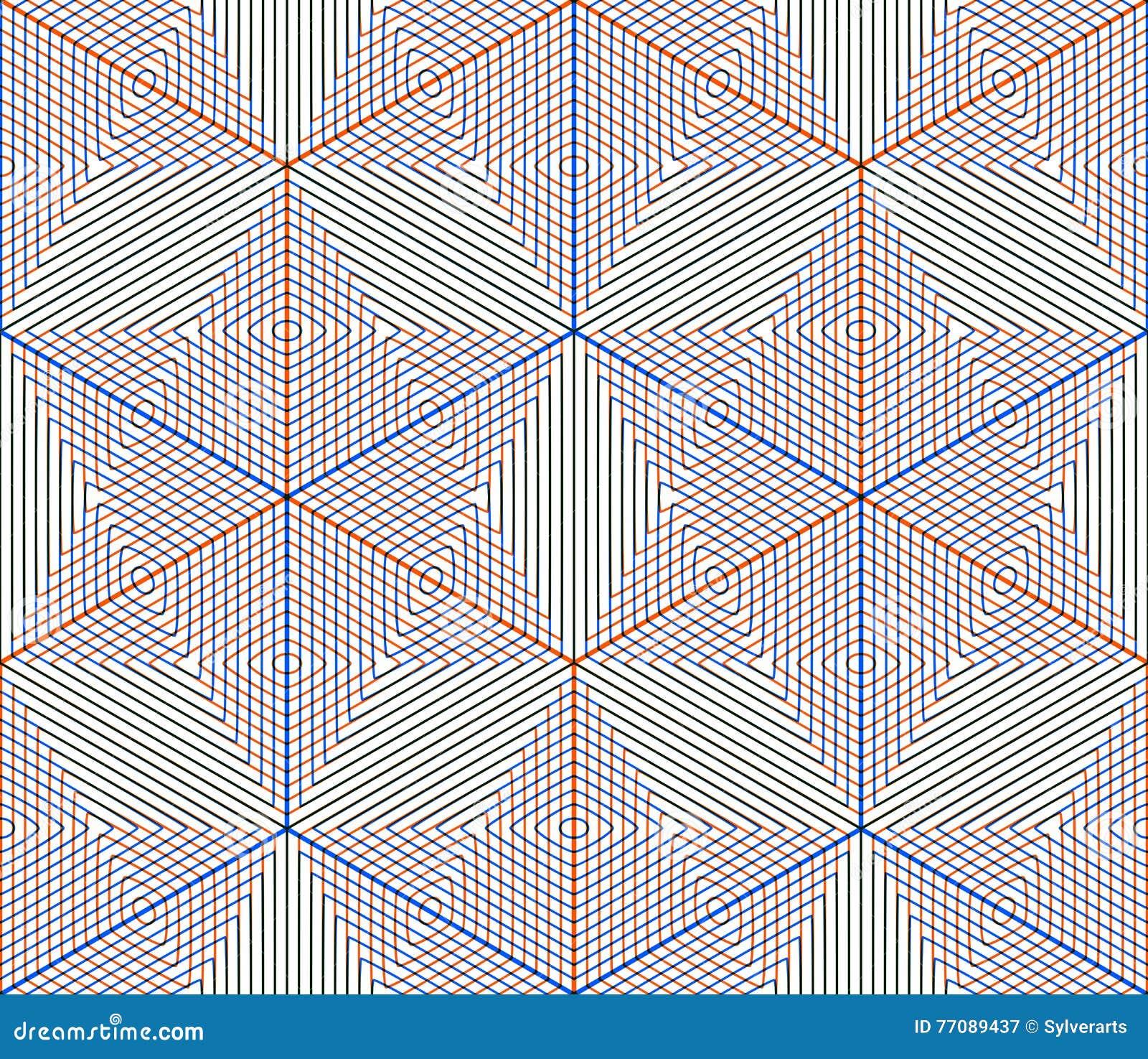 Kulört abstrakt begrepp väver samman den geometriska sömlösa modellen, EPS10 B