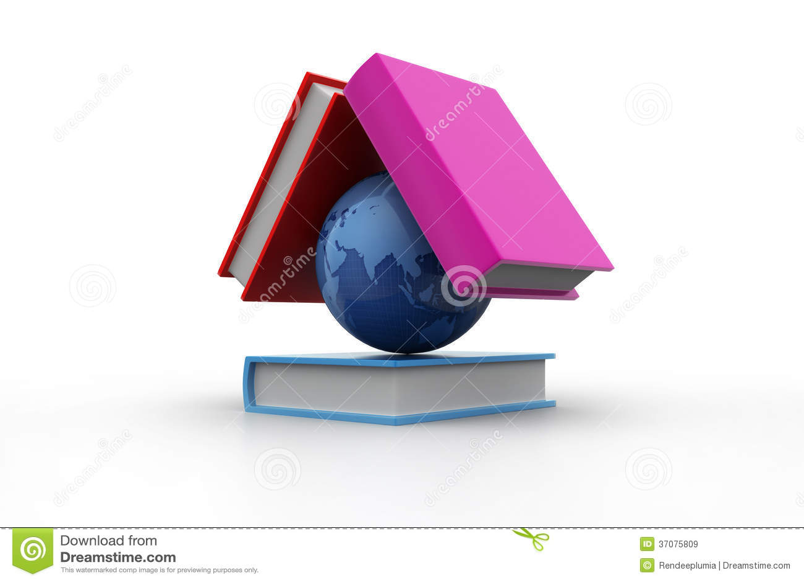 Download Kula ziemska i książka ilustracji. Ilustracja złożonej z kontynent - 37075809