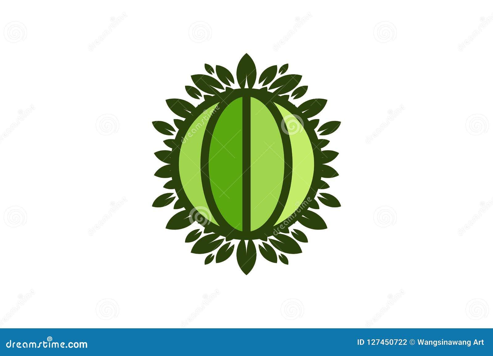 Kula ziemska liścia i światu save ziemi zielony logo Projektuje inspirację Odizolowywającą na Białym tle