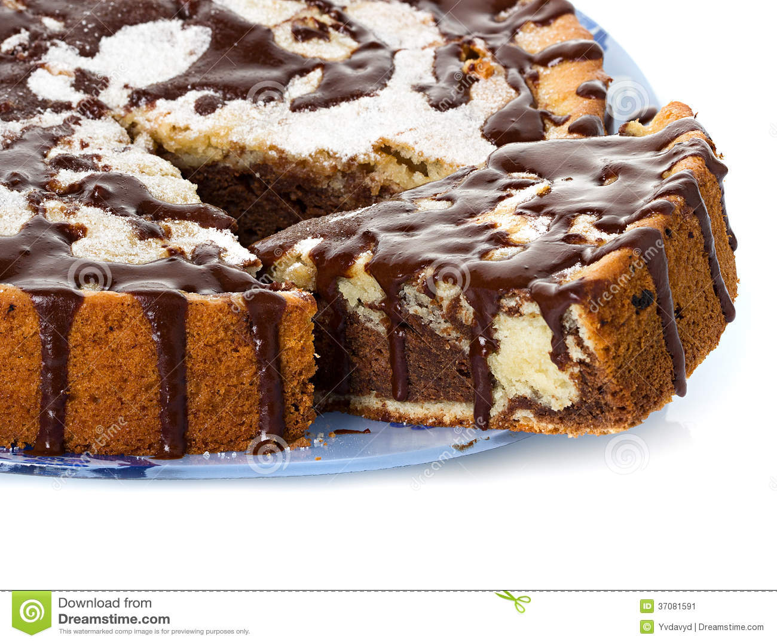 Download Kulebiak obraz stock. Obraz złożonej z desery, lodowacenie - 37081591