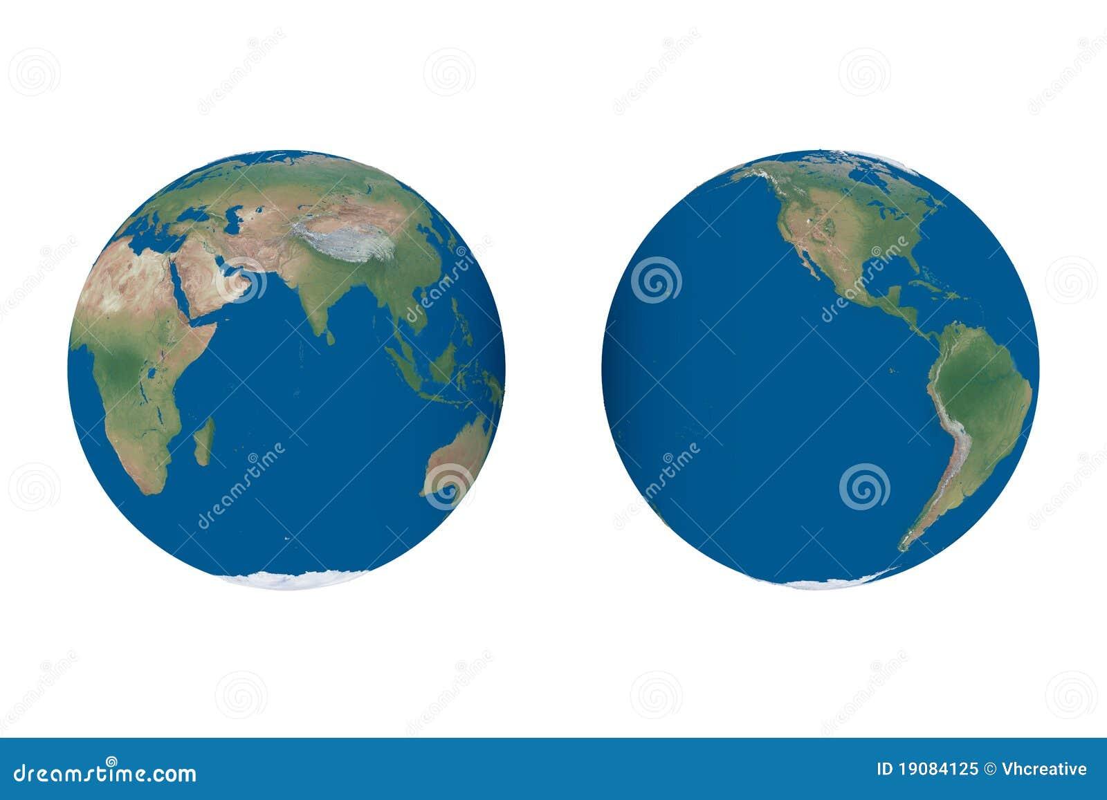 Kuli ziemskiej hemisfer mapy świat