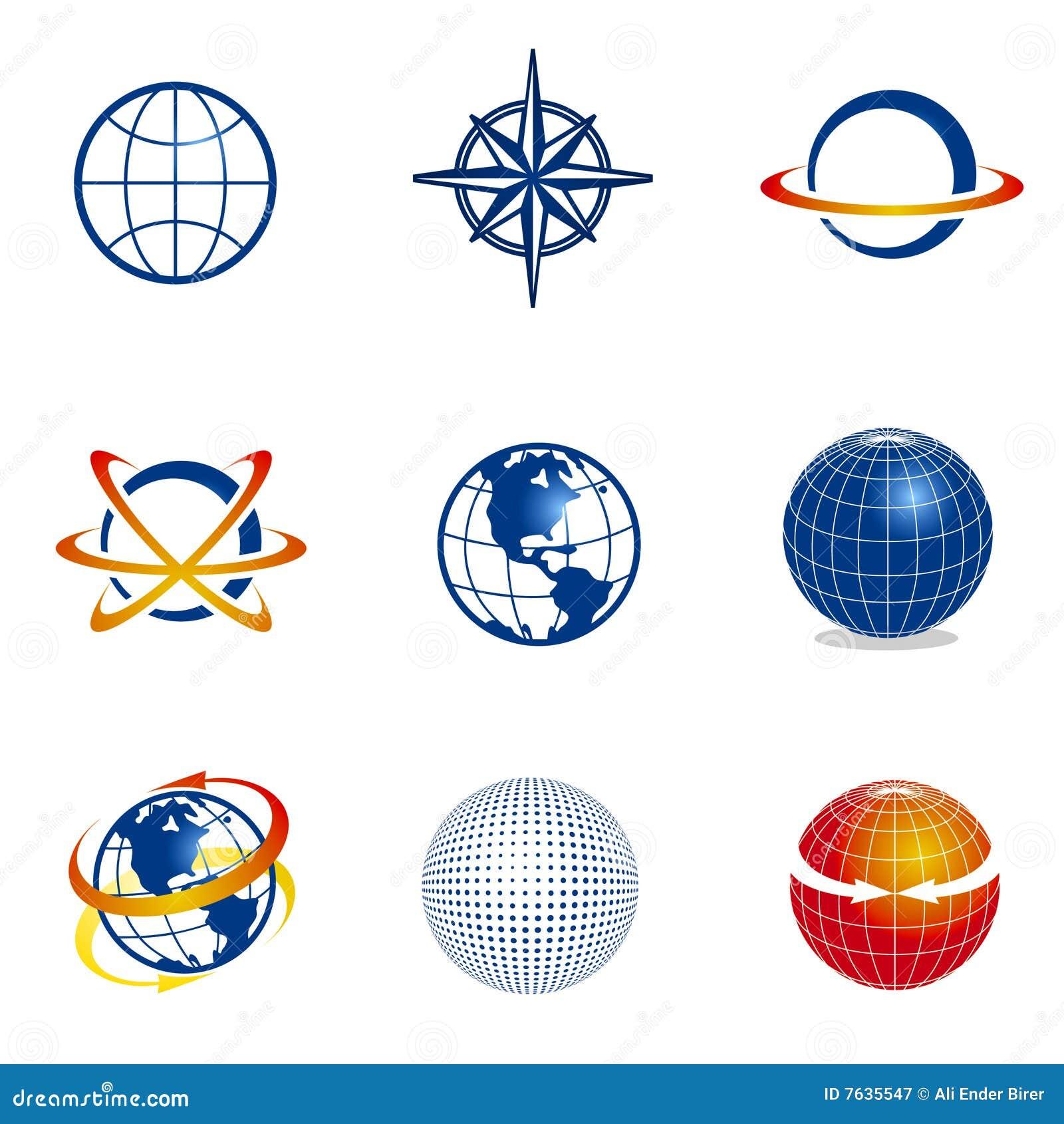 Kuli ziemskiej ikon nawigaci set
