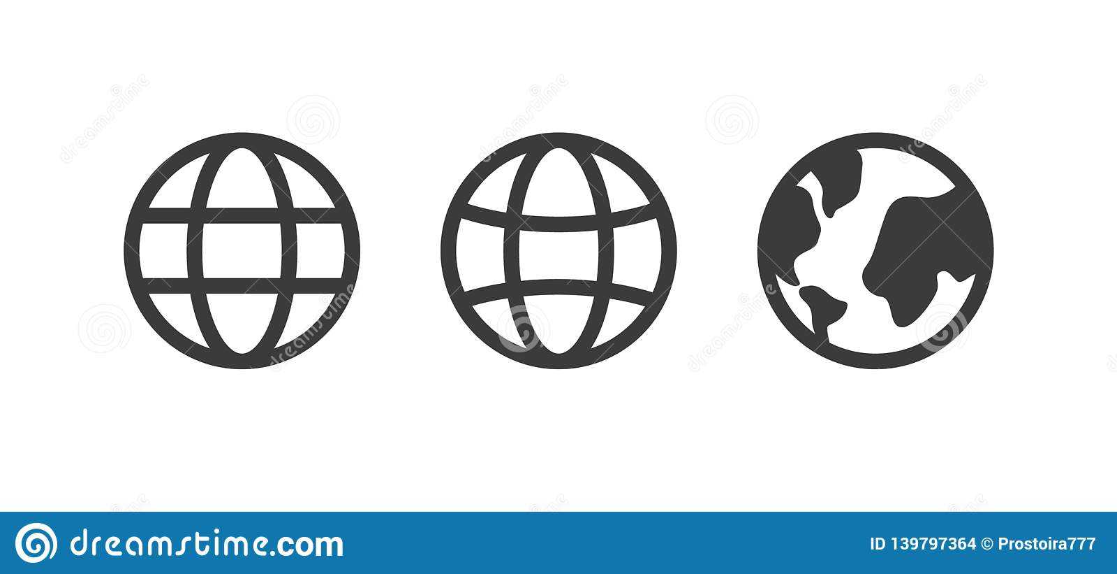 Kuli ziemskiej ikona, światowy wektoru znak, uziemia set, kolekcja Internetowy pojęcie, mapa znak odizolowywający na białym, płas