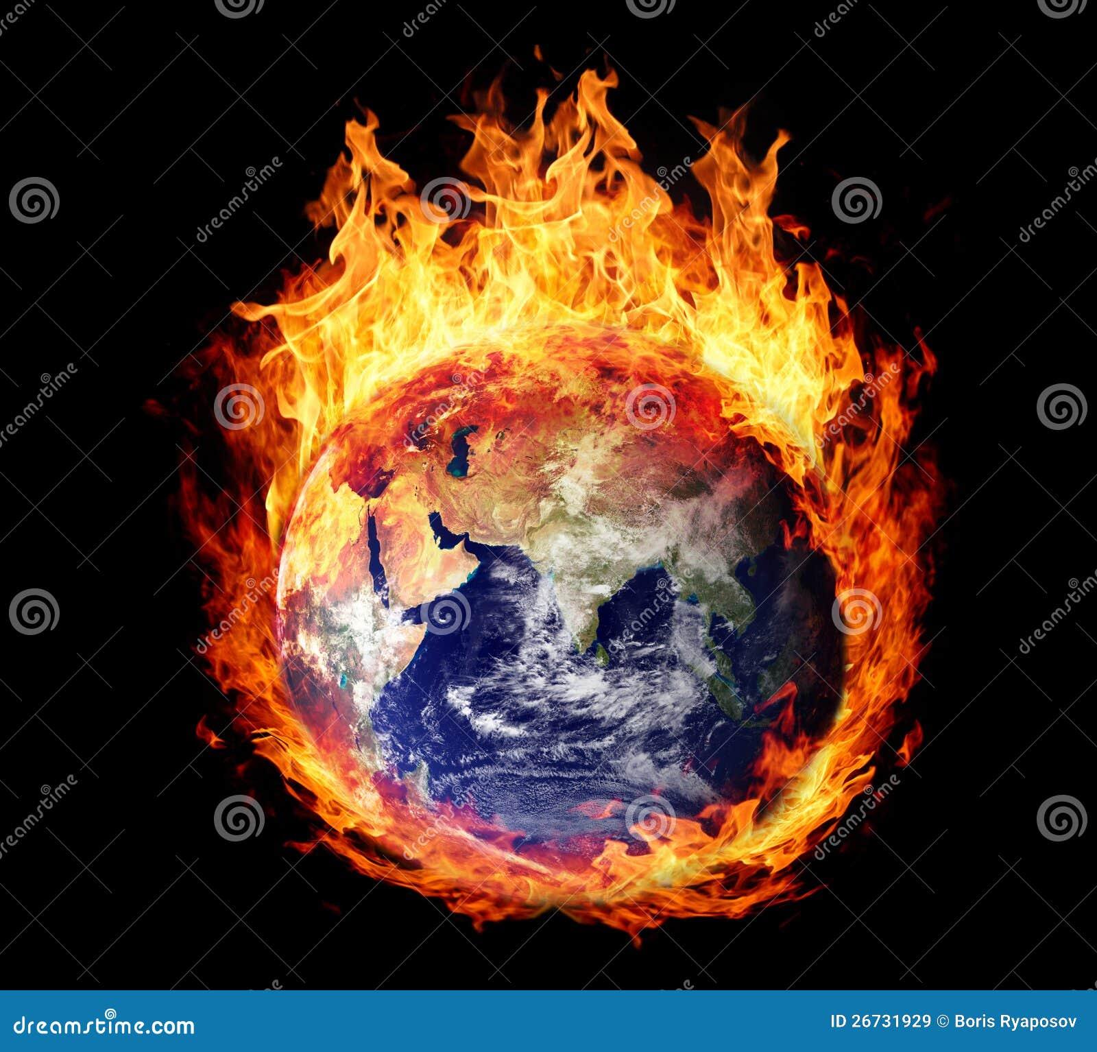 Kuli ziemskiej płonąca ziemia (wschodnia hemisfera)