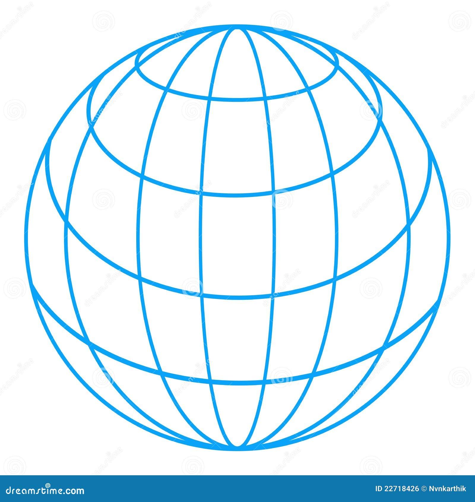 Kuli ziemskiej wireframe