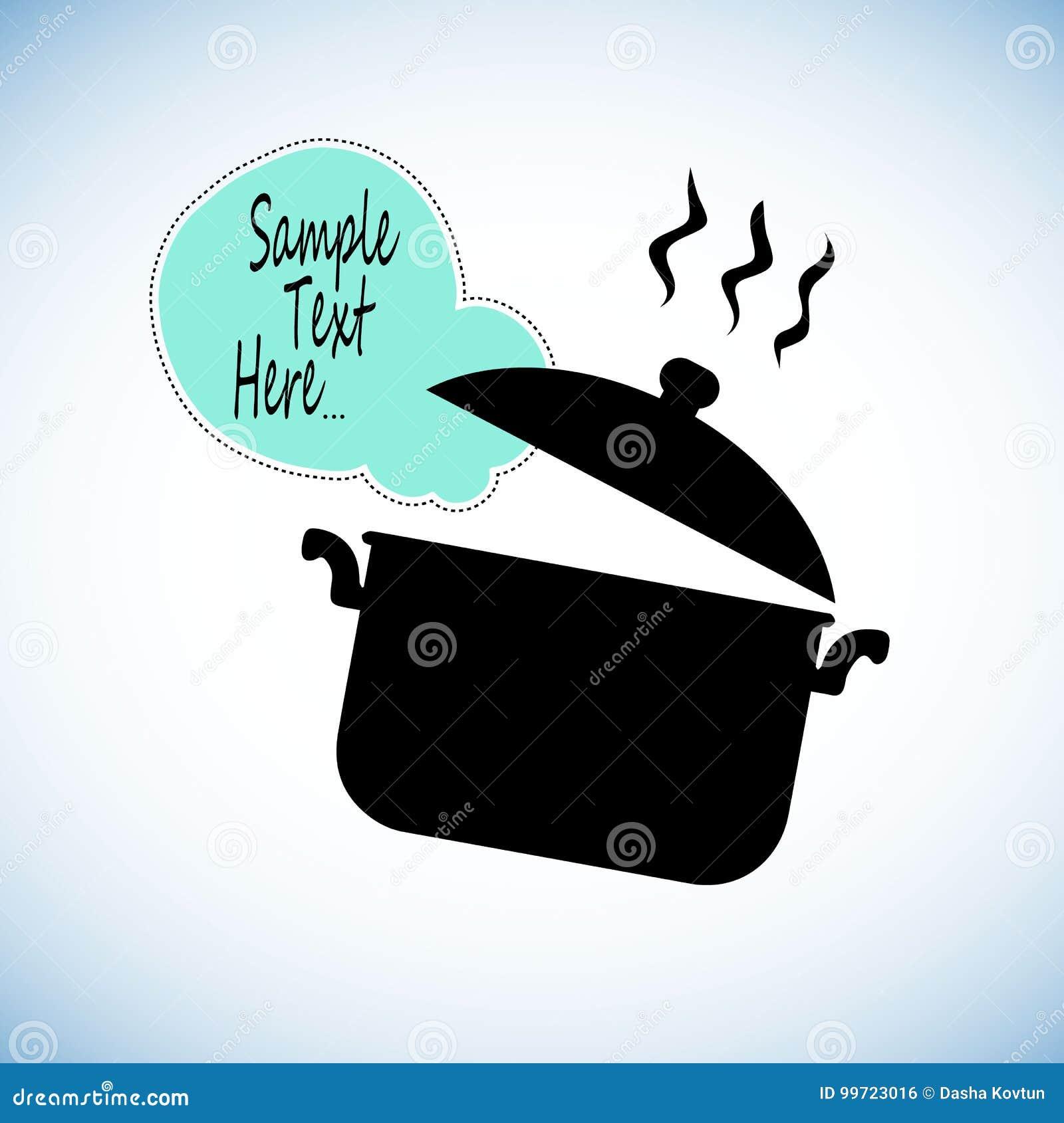 Kulinarnego niecka rondla przedmiota garnka kuchenny karmowy ilustracyjny kucharz