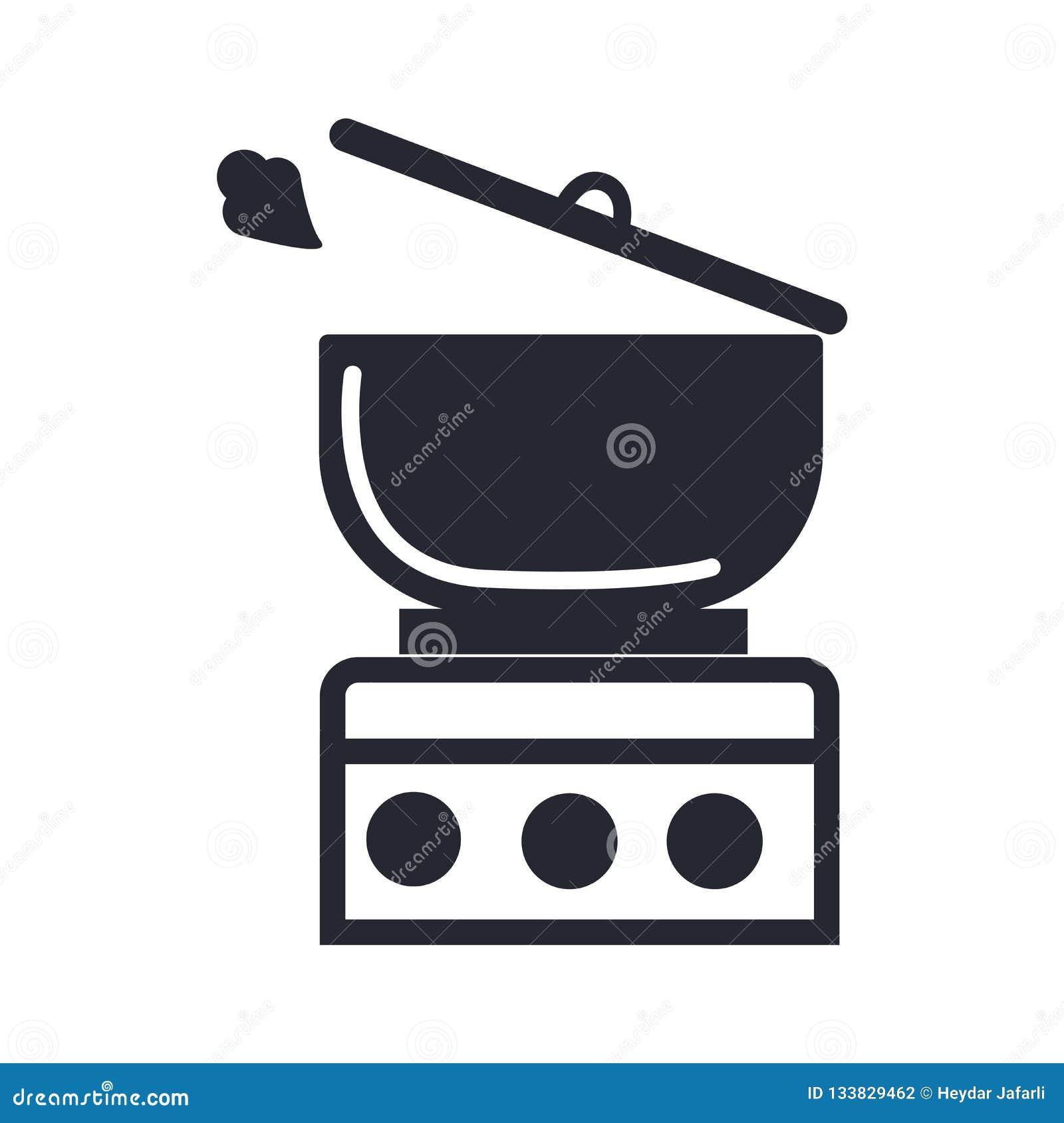 Kulinarny ikona wektoru znak i symbol odizolowywający na białym tle