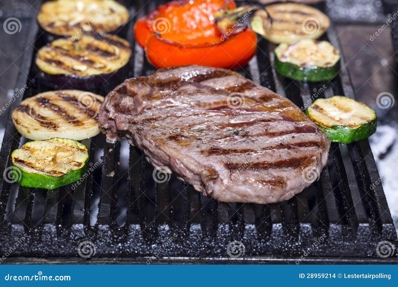 Kulinarny stek i warzywa