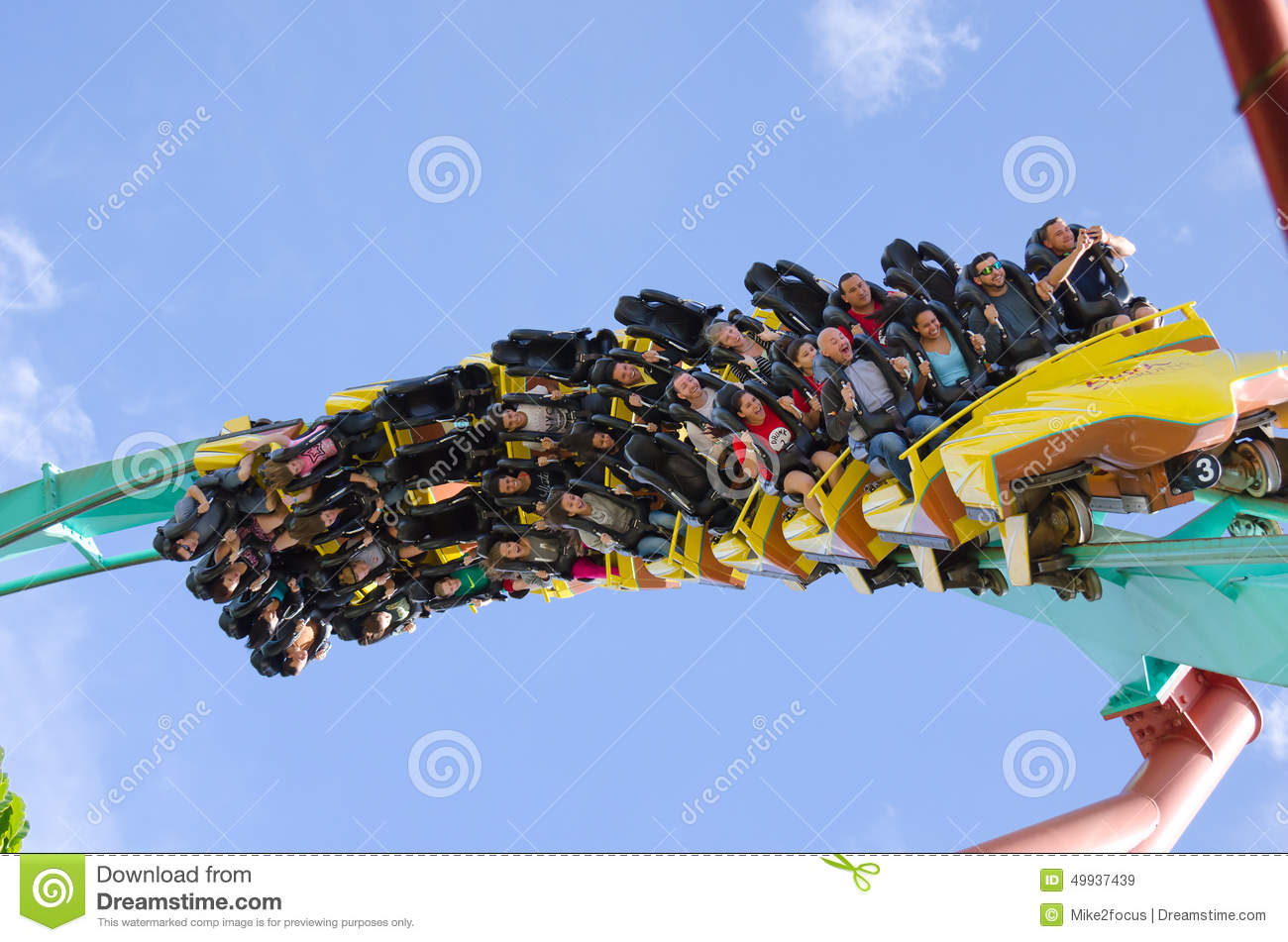 Kumba Roller Coaster Closeup Busch Gardens Editorial Stock