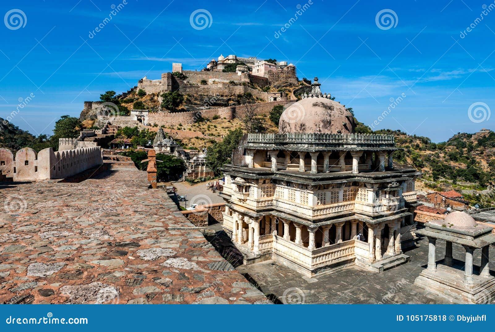 Kumbhalgarh fort i Rajasthan, Indien