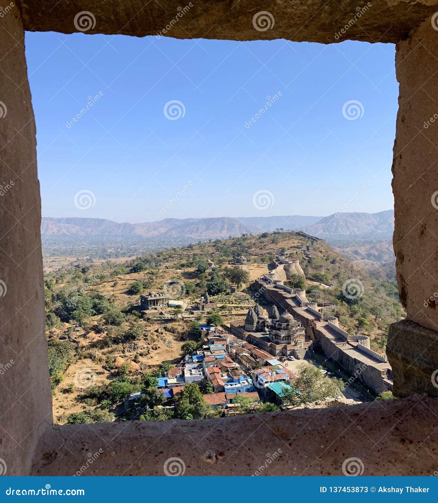 Kumbhalgarhfort complex in Rajasthan India