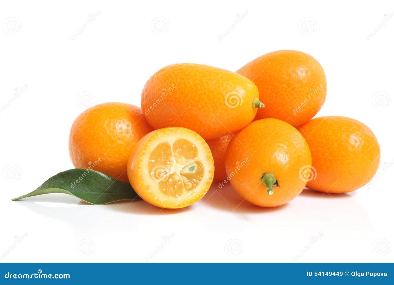 Kumquat with leaf
