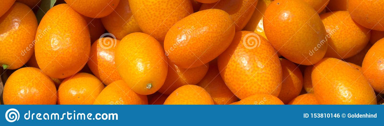 Kumquat succosi freschi in un canestro nel mercato Fondo arancio delle arance fresche closeup