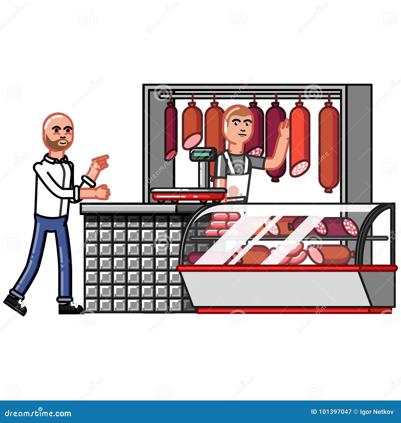 Kunden indikerar godset som önskar att köpa