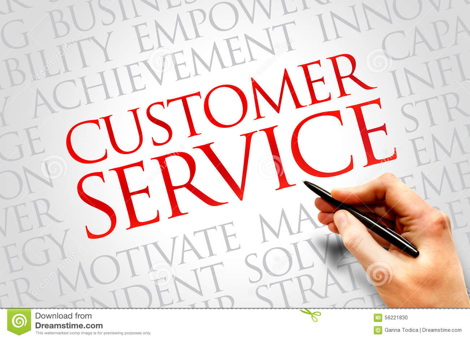 Kundendienst eine schöne lächelnde Geschäftsfrau