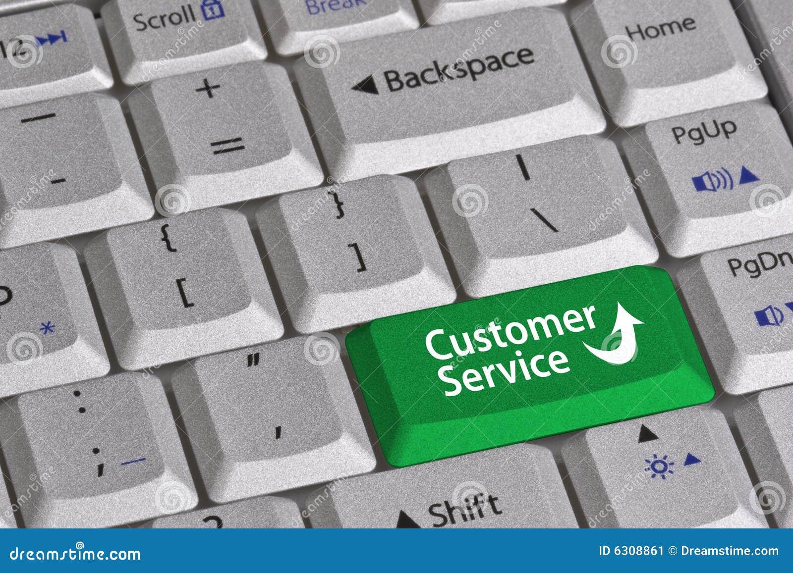 Kundendienst-Taste