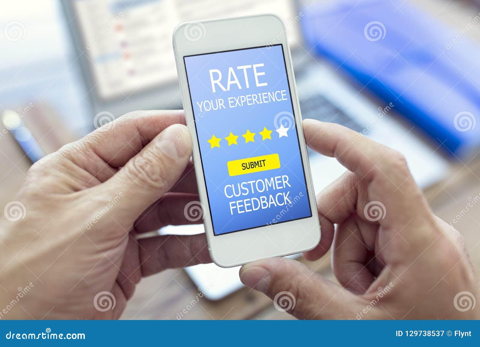 Kundenfeedback-Formrate erfahren Sie Sternbewertung