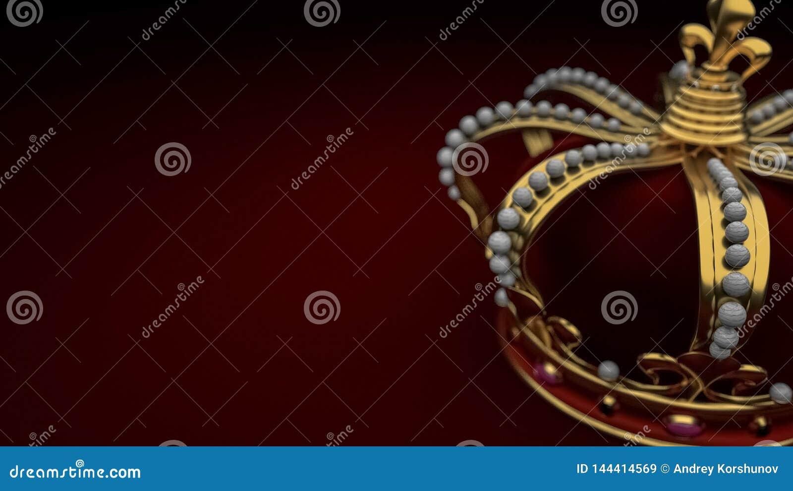 Kunglig guld- kronabakgrundskonung