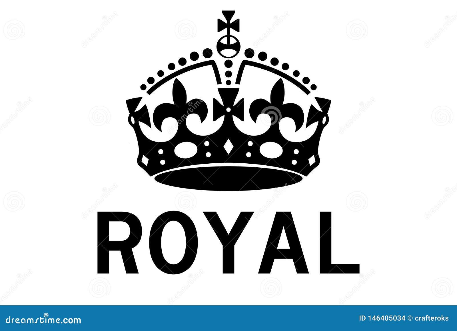 Kunglig illustration för kronavektoreps vid crafteroks