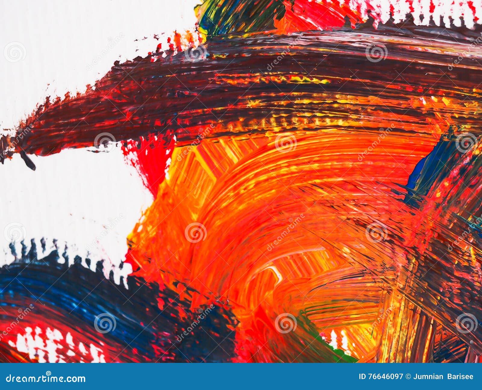 Super Kunsten Die Abstract Water Als Achtergrond Schilderen Acryl Stock DU-14