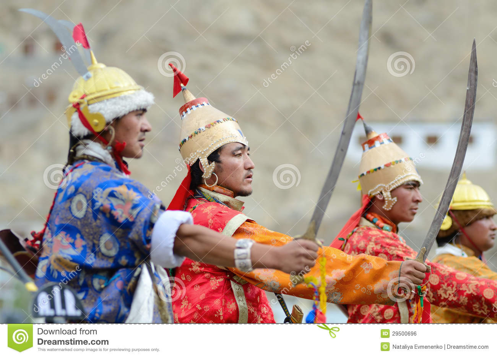 Kunstenaars op Festival van Erfenis Ladakh