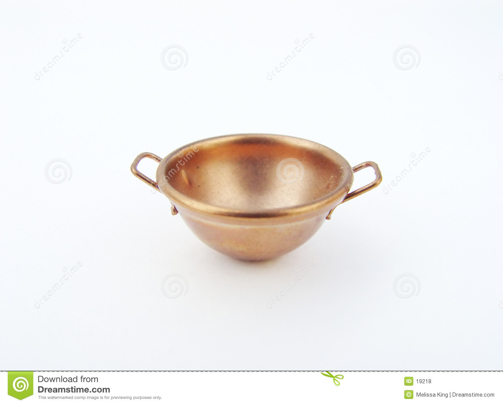 Kupferne kochende Schüssel