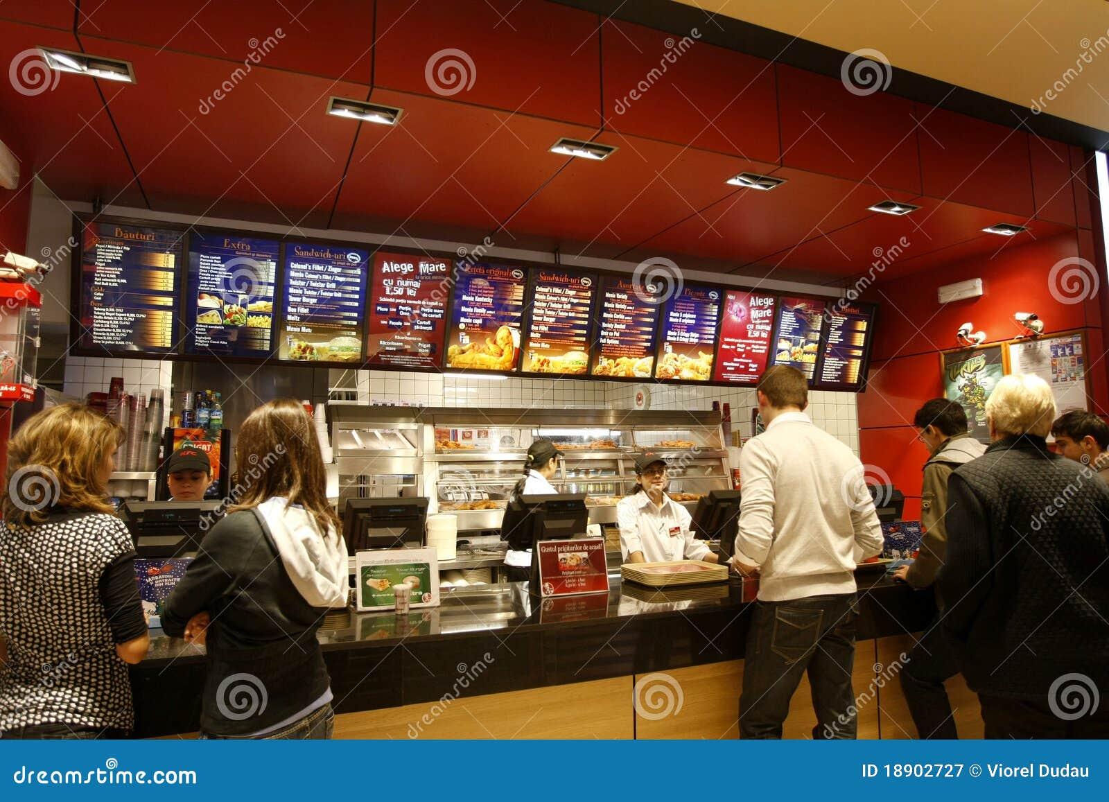 Kupienia klientów fast food