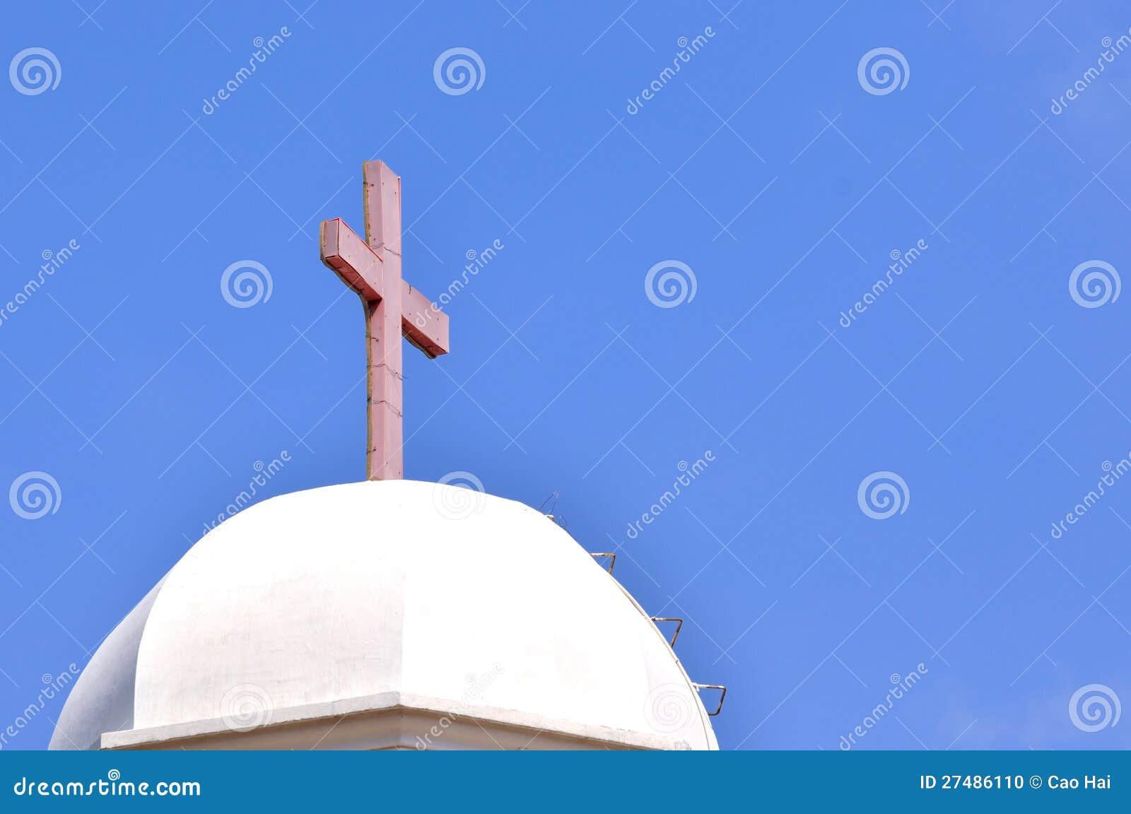 Kupol och kors för kristen kyrklig