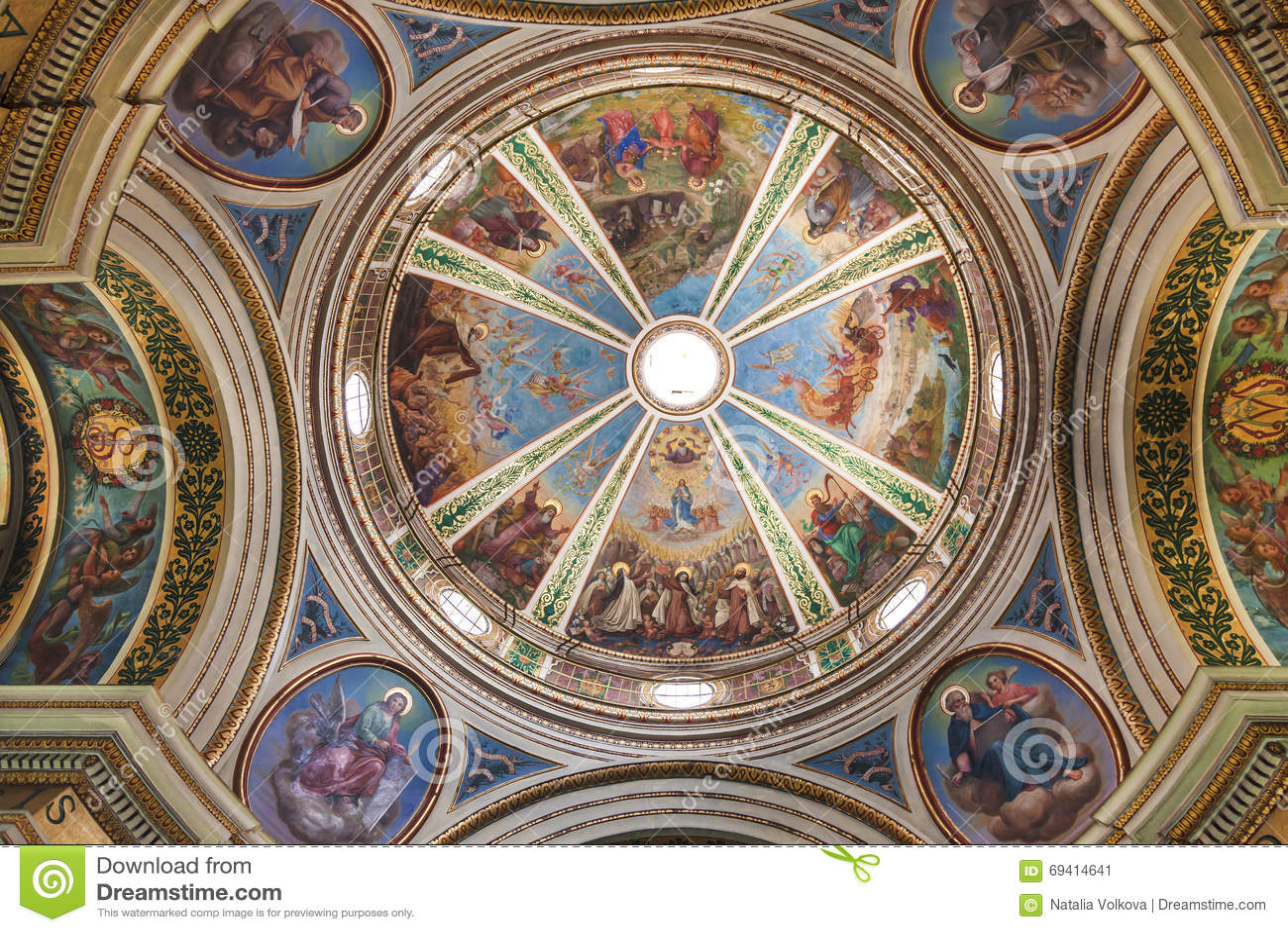 Kupolen av kyrkan av Stella Maris Carmelite Monastery