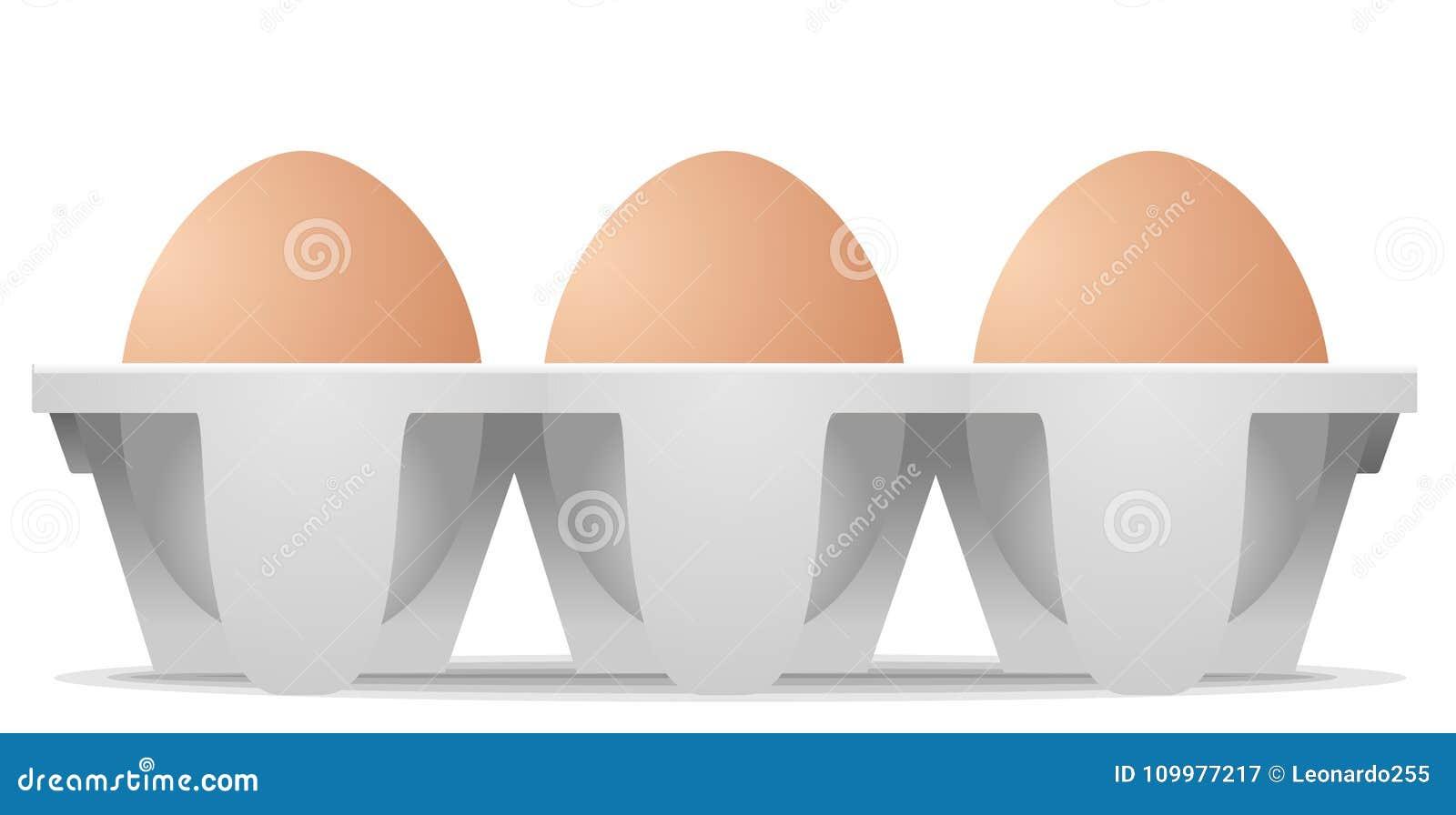 Kurczaków jajka w kartonu jajecznym pudełku